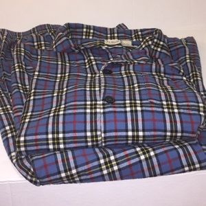 LL Bean men flannel pajamas